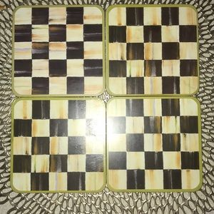 Mackenzie-Childs Courtly Check Coasters